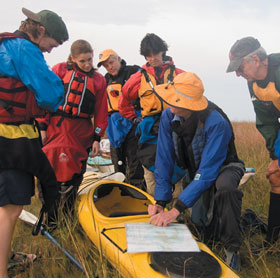 Group with Kayak
